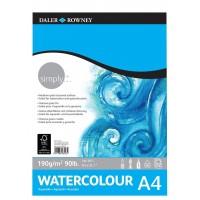 Daler Rowney Simply Watercolour Pad 12sht 190gsm A4