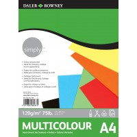 Daler Rowney Simply Multicoloured paper 21sht 120gsm A4