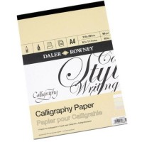 Daler Rowney Calligraphy Pad 30sht 90gsm A4