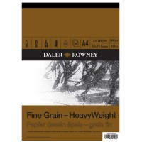 Daler Rowney Sketching Fine Grain Heavyweight Pad (30sht/200gsm) A4