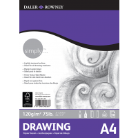 Daler Rowney Simply Drawing Pad 50sht 120gsm A4