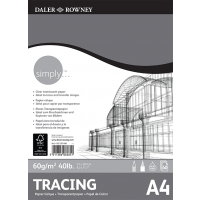 Daler Rowney Simply Tracing Pad 40sht 60gsm A4