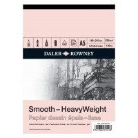 Daler Rowney Sketching Smooth Heavyweight Cartridge Pad (25sht/220gsm) A5