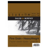 Daler Rowney Sketching Fine Grain Heavyweight Pad (30sht/200gsm) A5