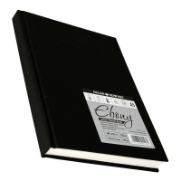 Daler Rowney Ebony Hardback Portrait Sketchbook White paper 62sht unperforated 150gsm acid free A5