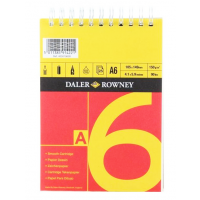 Daler Rowney Sketching Spiral Pad 25sht 150gsm Cartridge Paper (Red & Yellow) A6