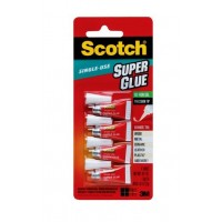 Scotch? Super Glue Gel AD119. 0.017 oz each (0.48gr.). Small tubes for single use, 4 tubes/pack