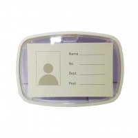 ID Card Holder white with Rubber