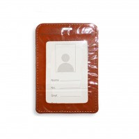 ID Card Holder (PULeather) Brown - Model 1