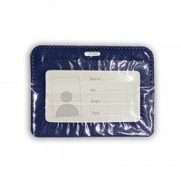 ID Card Holder (PULeather) Dark Blue
