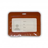 ID Card Holder (PULeather) Brown - Model 2