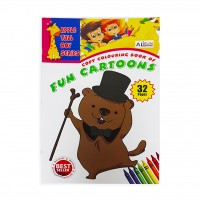 Copy Colouring Book of Fun Cartoons