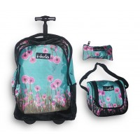 Trolley Bag B218 Ikola 18 inches (BAG + Lunch Bag + Pencil pouch)