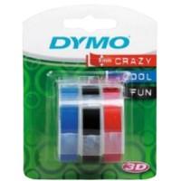 DYMO emb. 9MMx3M Bu/Blk/Rd Bl-3