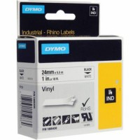 DYMO RH TP 24mm Black/White Vinyl