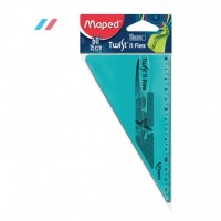 Maped Ruler 15cm Twist N Flex Set Square