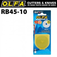 Olfa Rotary OL-RB45-10 Spare Blade 45m RTY-2/DX Pack of 10Pcs