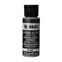 Folkart EXTREME GLITTER Multi Surface Paints BLACK