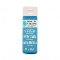 Martha Stewart Sea Glass Paint 20z. Blue Calico