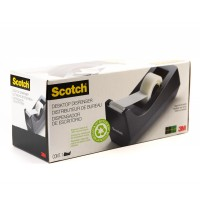 Scotch Desktop Dispenser Black C-38. Up to 36 yd (33m) rolls. 1 dispenser/pack