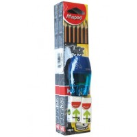 Maped BlackPeps Pencil 2 Box + Eraser+ Sharpner