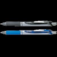Pentel BL77 Energel Retractable Roller Pen 0.7mm Blue&Black Blister Pack