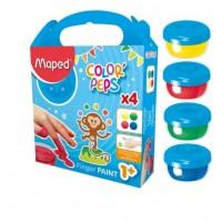 Maped Color'peps finger paint pot 80gx4colors