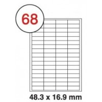 Formtec Label6800/48.5x16.9mm #68 Box of 100 Sheets