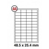 Formtec Label 4400/48x25mm #44 Box of 100 Sheets