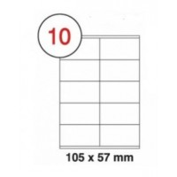 Formtec Label1000/105x57mm #10 Box of 100 Sheets
