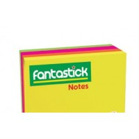 "Fantastick Sticky Notes 4x4"" - 4 Color Fluorecent"