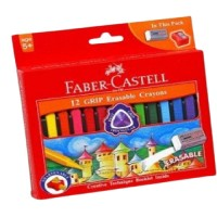 Crayons Fabercastell Grip Eraseable 90mm 12pc