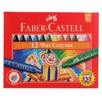 Crayons Fabercastell Wax Round 75mm 8mm 12pc