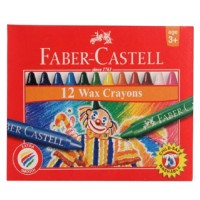 Crayons Fabercastell Wax Round 90mm 8mm 12pc