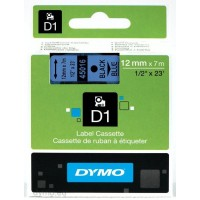 Dymo S0720560 D1 45016 Tape 12mm x 7m Black on Blue