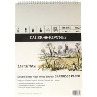 Daler-Rowney : Spiral Pad smooth surface - 135gsm - 25s: Lyndhurst :14x10""