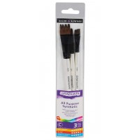 Daler Rowney Graduate Brushes Wallets (Short Handle) Synth Comb 3 Brush Set