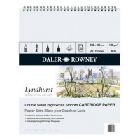 Daler-Rowney : Spiral Pad smooth surface - 135gsm - 25s: Lyndhurst :20x16