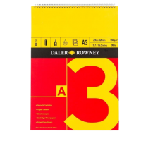 Daler Rowney Red And Yellow Spiral Pads - A3 (150gsm)