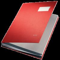 LEITZ SIGNATURE BOOK 20 COMP RED COL