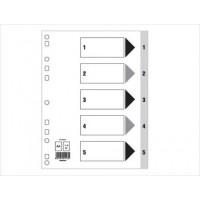 Divider(1-5)PVC A4 Gray
