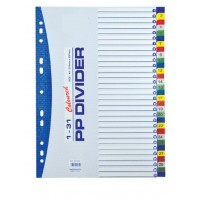 Divider Pvc A4 (1-31) Number with Colour