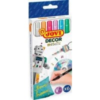 JOVIDECOR METALIC MARKER CASE 6 ASSORTED COLOURS