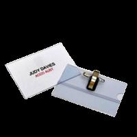 Clipp Name Badges Clear Box of 48Pcs
