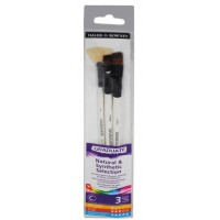 Daler Rowney Graduate Brushes Wallets (Short Handle) Synth/Bristle 3 Brush Set
