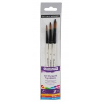 Daler Rowney Graduate Brushes Wallets (Short Handle) Synth Rounds 3 Brush Set