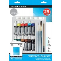 SIMPLY WATERCOLOUR 25 PIECE SET