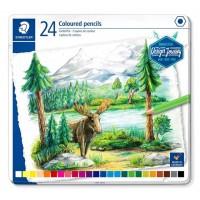 Staedtler 146C Coloured pencil permanent  Metal Box of 24 Color