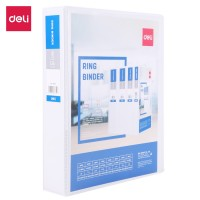 Deli PP 1.5IN 2 D-Ring View Binder A4