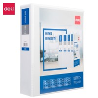 Deli PP 2IN 2 D-Ring View Binder A4